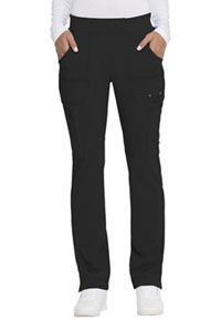 Advance Mid Rise Tapered Leg Pull-on Pant (DK195-BLK) (DK195-BLK)