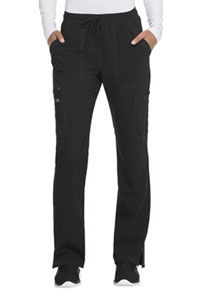 Advance Mid Rise Boot Cut Drawstring Pant (DK200-BLK) (DK200-BLK)