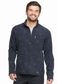 Men's Zip Front Warm-up Jacket Labyrinth (DK307-LBBL)