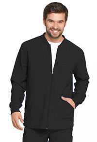 Dickies Men's Zip Front Warm-Up Jacket Black (DK320-BAPS)