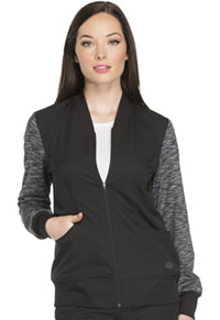 Zip Front Warm-up Jacket (DK340-BLK)