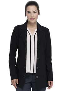 "Advance 28"" Notched Lapel Lab Coat (DK400-BLK) (DK400-BLK)"