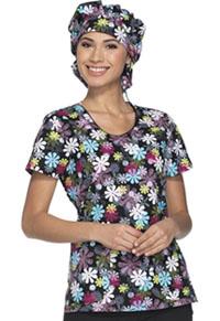 Dickies Bouffant Scrub Hat Flower-fetti (DK500-FLWT)