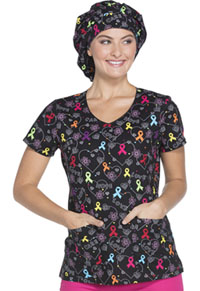 Dickies Bouffant Scrub Hat Hopeful Hearts (DK500-HOHR)
