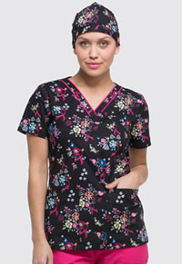 Dickies Scrubs Hat Beautiful Petals (DK501-BUPT)