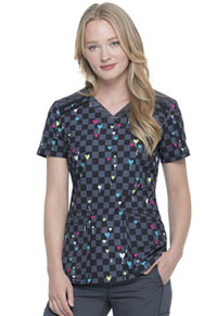 Dickies V-Neck Top Love Matrix (DK602-LVMX)