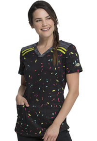 Dickies V-Neck Print Top Rainbow Party (DK602-RAPY)