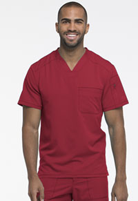 Dickies Dynamix Men's V-Neck Top (DK610-RED) (DK610-RED)