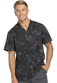 Dickies Men's V-Neck Top Distress Call Black (DK611-DICB)