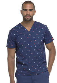 Dickies Men's V-Neck Top Smooth Sailing (DK612-SOSA)