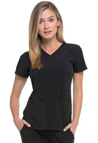 Dickies V-Neck Top Black (DK615-BAPS)