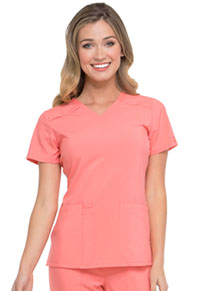 Dickies V-Neck Top Ravashing Coral (DK615-RACO)
