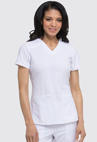 EDS Essentials V-Neck Top (DK615-WTPS) (DK615-WTPS)