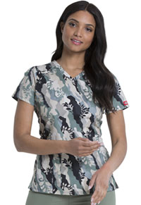 Dickies V-Neck Top Nature Camo (DK617-NTCO)