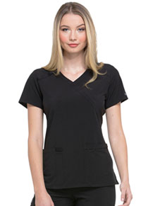 Every Day EDS Essentials Mock Wrap Top (DK625-BAPS) (DK625-BAPS)