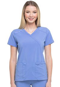 Every Day EDS Essentials Mock Wrap Top (DK625-CIPS) (DK625-CIPS)