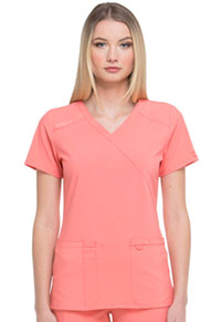 Every Day EDS Essentials Mock Wrap Top (DK625-RACO) (DK625-RACO)