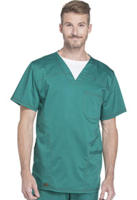 Dickies Men's V-Neck Top Hunter Green (DK630-HUN)
