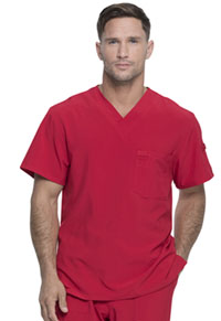 Every Day EDS Essentials Men's V-Neck Top (DK635-RED) (DK635-RED)