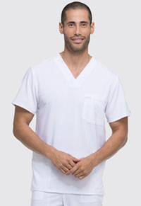 Dickies Men's V-Neck Top White (DK645-WTPS)