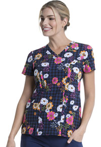 Dickies V-Neck Top Floral Throwback (DK656-FLTB)