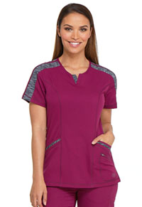 Dynamix Shaped V-Neck Top (DK665-WIN) (DK665-WIN)