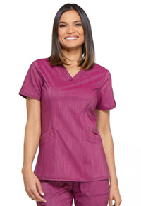 Dickies V-Neck Top Sangria Twist (DK680-SGRT)
