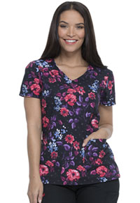 Dickies V-Neck Top Blooming Twilight (DK700-BGTH)