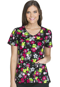 Dickies V-Neck Top Flower Hopping (DK700-FLWH)