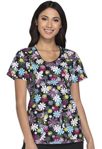 Dickies V-Neck Top Flower-fetti (DK700-FLWT)