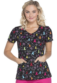 Dickies Prints V-Neck Top (DK700-HOHR) (DK700-HOHR)