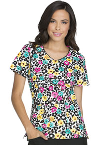 Dickies V-Neck Top Purrfect Petals (DK700-PRPT)