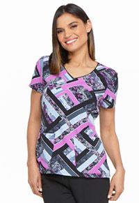 Dickies Prints V-Neck Top (DK701-GRGR) (DK701-GRGR)