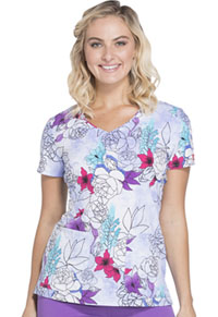 Dickies V-Neck Top Island Orchid (DK701-ISOR)