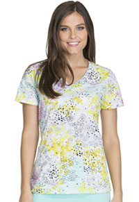 Dickies V-Neck Top Wildflower Leopard (DK701-WILE)