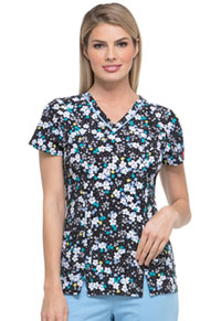 Dickies Prints V-Neck Top (DK702-INDZ) (DK702-INDZ)