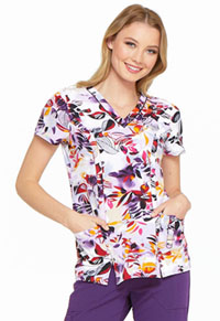 Dickies V-Neck Top Tropical Sunset (DK702-TRSU)