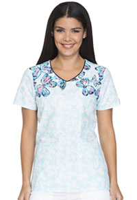 Dickies V-Neck Top Flutterly Fantastic (DK712-FUFC)