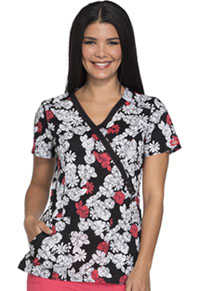 Dickies Mock Wrap Top Lace Bouquet (DK714-LCBO)