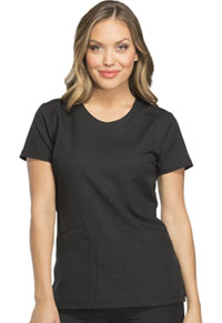 Dickies Rounded V-Neck Top Black (DK720-BLK)
