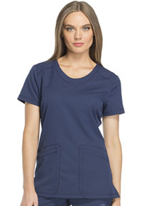 Dickies Rounded V-Neck Top Navy (DK720-NAV)
