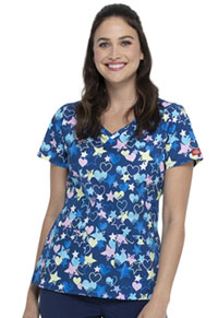 Dickies V-Neck Top Starry Eyed Love (DK721-STYE)