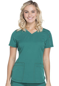 Dickies V-Neck Top Hunter Green (DK730-HUN)