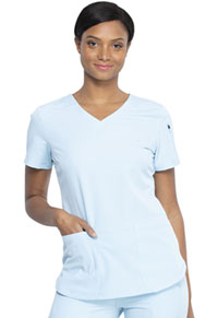 Dickies V-Neck Top Skylight (DK730-SILI)