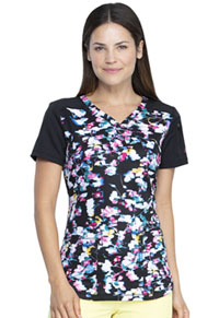 Dickies V-Neck Top Floral In Motion (DK732-FLMT)