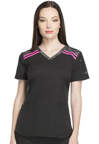 Dickies V-Neck Top Black (DK740-BLK)