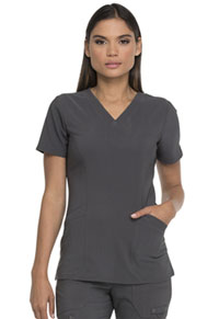 Dickies V-Neck Top With Patch Pockets Pewter (DK755-PWT)