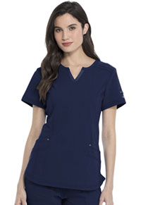 Advance Shaped V-Neck Top (DK785-NVYZ) (DK785-NVYZ)