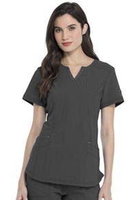 Dickies Shaped V-Neck Top Pewter (DK785-PWT)