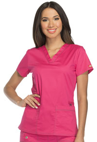 Dickies V-Neck Top Hot Pink (DK800-HPKZ)